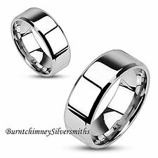 Personalized 316L High Polish Stainless Steel Name Ring For Men or Women 6/8mm