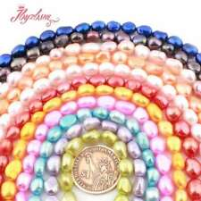 """8-9mm Natural Freeform Freshwater Pearl Cultured Gemstone Beads Loose Strand 15"""""""