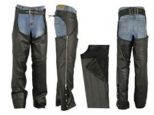 PREMIUM COWHIDE NAKED LEATHER MOTORCYCLE Biker CHAPS EZ OUT INSULATED LINER $189