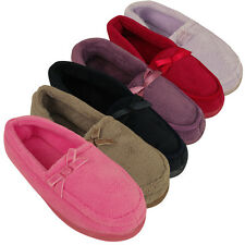 Ladies New Moccasin Luxury Slipper Moccasins Slippers Womens Size UK 3 4 5 6 7 8