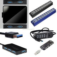 USB 3.0/2.0/1.1 Hub 4/10 Port Speed 5Gbps Adapter Power Cable For PC laptop B20E