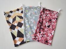 2 Fiber Soft Case Pouch Holder Bag For Sunglasses & Eyeglasses In Floral Prints.