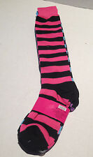 KNEE High Striped or Solids Tube Socks NEON Variety of Colors OLD SCHOOL Style