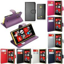 SIDE OPENING WALLET FLIP FOR NOKIA LUMIA CASE COVER+SCREEN FILM