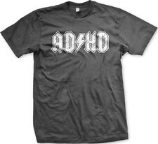 ADHD Lightning Bolt Parody ACDC ADD Entourage Funny TV Humor Show Mens T-shirt