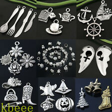 Wholesale Mix Tibetan Silver Charm Beads Pendant Jewelry Making Findings DIY New