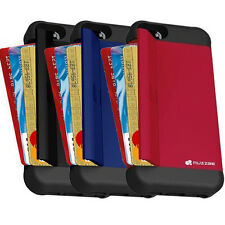 Muzzbe Anti Shock Heavy Duty 3in1 Case Card/Cash Holder & Stand For iPhone 5/5S
