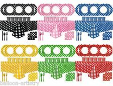 Polka Dot Spot Birthday Summer Tropical Party Supplies Tableware Pack Set For 16