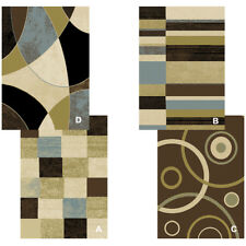 "Contemporary Geometric Multi-Color 5x8 Area Rug Modern Carpet - Actual 5'2""x7'2"""