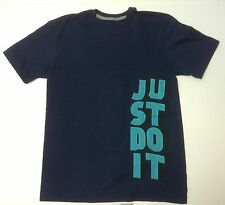 "Nike 641608-419 Men's ""Just Do It"" Cotton Tee T-Shirt Obsidian $25"