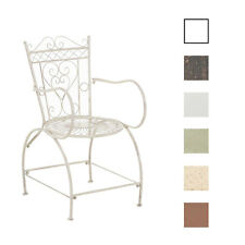 Chair Sheela Iron Metal Shabby Chic Vintage Bronze White Brown Garden Patio NEW