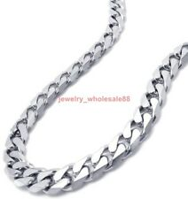 7.8''-36' Stainless steel 8mm Curb Link Necklace Bracelet Hot sale Men's Jewelry