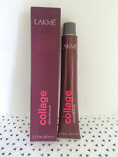 Lakme Collage Permanent Creme Hair Color  2.1 oz *YOUR CHOICE* mrn bx wh tab