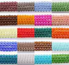 Fashion 50pcs Top Clear Czech Crystal Faceted Rondelle Bead 4/6/8/10mm 23 Color