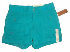 Ladies Sonoma Life & Style Aqua Blue Veridian Green Modern Fit Shorts Size 2 4 8