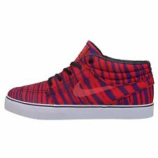 Nike SB Stefan Janoski Mid PRM Red Purple 2014 Mens Skate Boarding Shoes Zebra