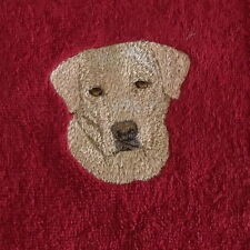 Yellow Labrador Dog Embroidered Towels, personalise, Dog Gift, embroidery
