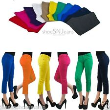 NEW Colorful Jeggings Jean Sexy Slim Cotton Pencil Skinny Capri Pants Cropped