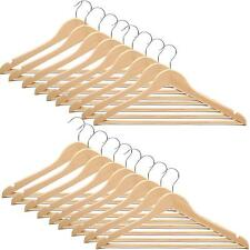 NEW 10/20/30/50/100 WOODEN COAT HANGERS SUIT TROUSER GARMENTS CLOTH COAT HANGER