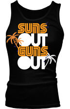 Suns Out Guns Out Summer Saying Beach Body Workout Funny Boy Beater Tank Top