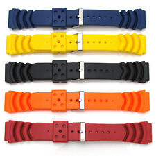 Five Mens Watch Strap Bands For SEIKO MONSTER Rubber Divers Diving 20mm-22mm S61
