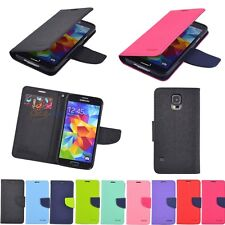 PREMIUM PU LEATHER WALLET BOOK CARD SLOTS CASE COVER STAND FOR MOBILE PHONES