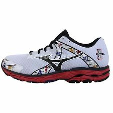 Mizuno Wave Inspire 10 2E Wide White Black Red 2014 Mens Running Shoes Runner