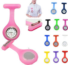 Hot Sale  Silicone Nurse Doctor Medical Watch Brooch Tunic Fob Colors  New