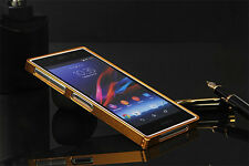 Deluxe Thin Metal Aluminum Bumper Frame Case Cover Skin for Sony Xperia Z1 L39H
