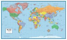 World Classic Elite Wall Map Mural Poster: Paper-Laminated-Framed