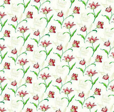 Dolls House Wallpaper 1/12th 1/24th scale Floral Quality Paper #160