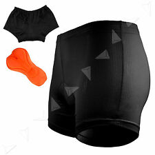 Men Gel Silicon 3D Bicycle Cycling Shorts Padded Cushion Pants Underwear 4 Size