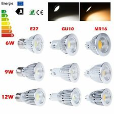 Dimmable E27 E26 GU10 MR16 CREE COB LED Spotlight Ceiling Bulb Lamp 6W 9W 12W