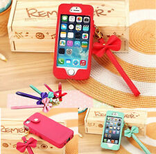 Stylish Bow BowKnot Leather Pouch Sleeve Case Cover for Apple iphone 4 4S