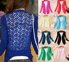 Ladies Crochet Sweater Knitting Blouse Tops Coat Womens Vogue Lace Cardigan