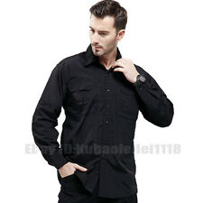 Men's Quick Dry Anti Sun UV Outdoor Camping Long Sleeve Button Casual Shirts