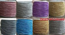 5/100 Meters Charm Cable Aluminum Curb Link Chain Jewelry Findings,1.0x6x4mm
