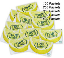 True Lemon Crystallized 100 Packets Each Box for Water Tea Hot Iced Sugar Free