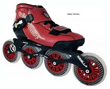 Vanilla Carbon Red 4 Wheel Inline Speed Skate
