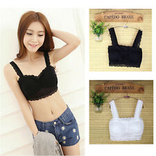 Sexy New Ladies Crop Top Sport Padded Boob Tube Leisure Lace Strap Vest Yoga Bra