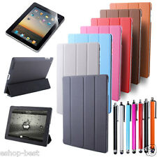 Tri-Fold Slim Leather Sleep/Wake Case Smart Cover Stand For New Apple iPad 3/4/2