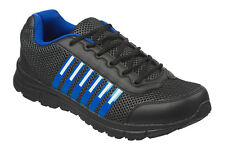 Mens Black Trainers Size 6 to 12 UK - SPORTS WORK RUNNING SHOES LEISURE / 009