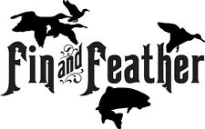 Fin And Feather Decal FSN1 #84 Fishing Truck/Boat Fish Bumper Stickers