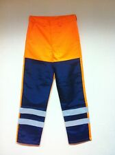Hi Vis Orange Navy Ballistic Leg Front Protection Safety Trousers Various Sizes