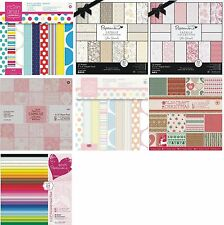 "PAPERMANIA 6x6"" PAPER PACKS 32 SHEETS CAPSULE COLLECTION CHOICE OF DESIGNS - NEW"