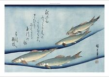 "ANDO HIROSHIGE ""Rivertrout"" FISH japanese CANVAS print! various SIZES available"