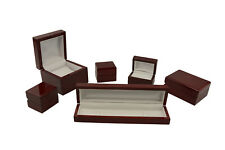 GLOSSY ROSEWOOD VENEER WOODEN BOX RANGE - CHOOSE SIZE AND QUANTITY