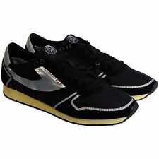 Diesel Mens Pass On Black Casual Lace Up Sneakers Shoes