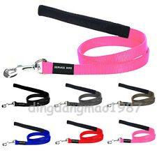 "Black Brown Gray Red Blue Pink Walking Nylon Service Dog Leash Lead 59"" Length"