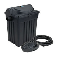 Garden Pond Filter - Pond Pump - UV Light and Hose / Clips - Complete System